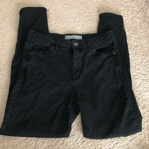Topshop Moto Leigh Black Jeans 28 x 30